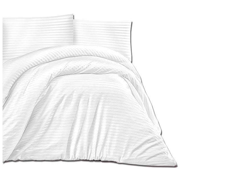 Darymex Cotton Duvet Cover Set - Cizgili White - Europen made