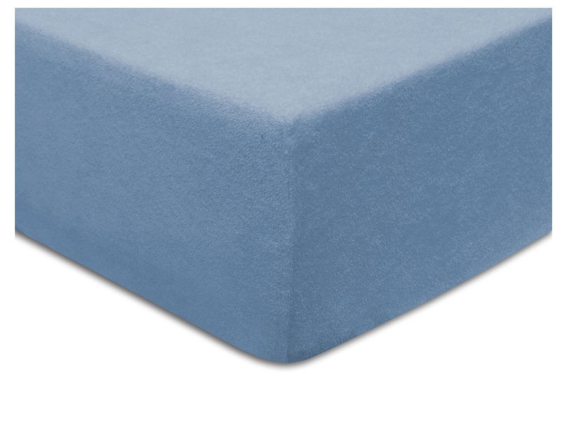 Darymex Terry Fitted Bed Sheet - Blue - Europen made