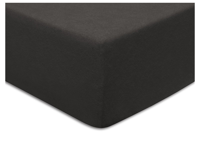 Darymex Terry Fitted Bed Sheet - Anthracite - Europen made