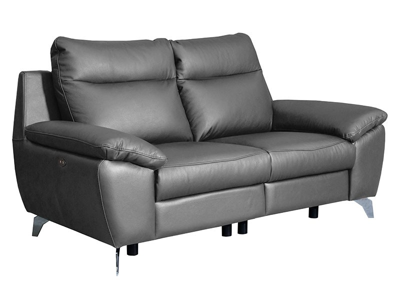 Des Loveseat Perle - Dollaro Steel - Full grain leather sofa