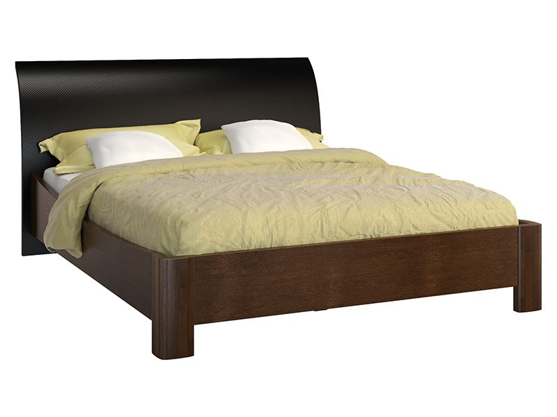 Mebin Rossano Bed With Curved Headboard Oak Notte - High-quality European furniture