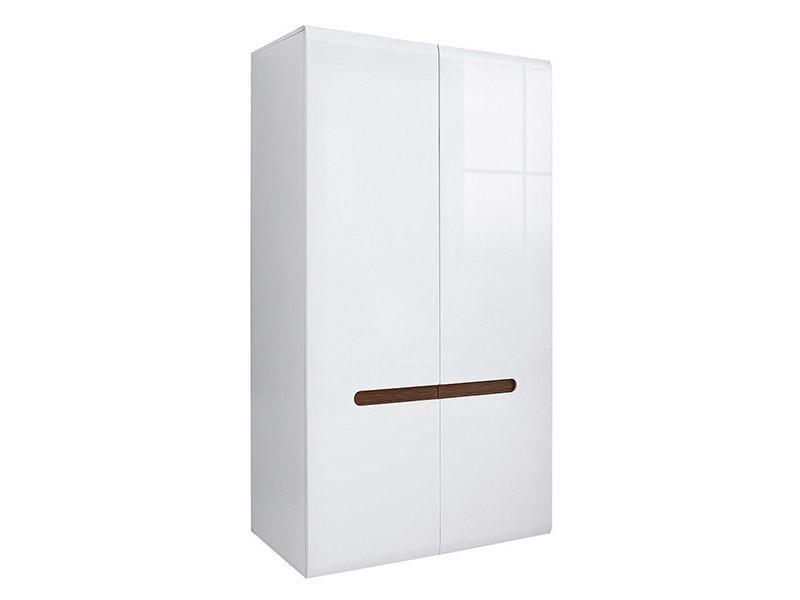 Azteca Trio 2 Door Wardrobe - Glossy white armoire