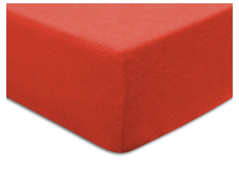 Darymex Terry Fitted Bed Sheet - Red - Europen made