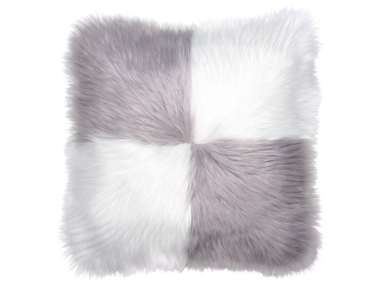 Torre & Tagus Quadrant Mongolian Faux Fur Filled Cushion - Accent Cushion