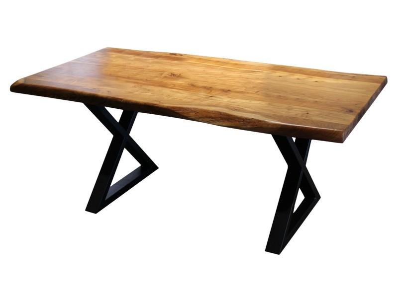Corcoran Table ZEN-72-A + ZL-BLX - Live edge table