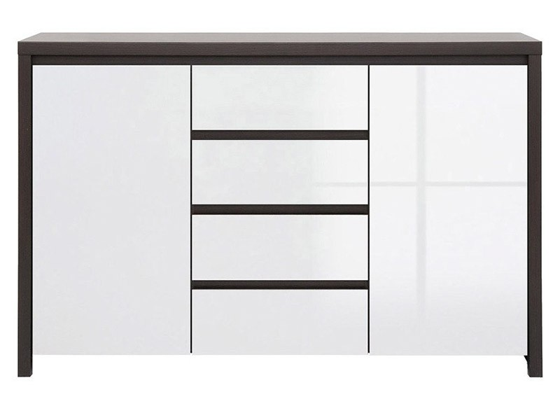 Kaspian Wenge + Glossy White Dresser - Versatile storage solution