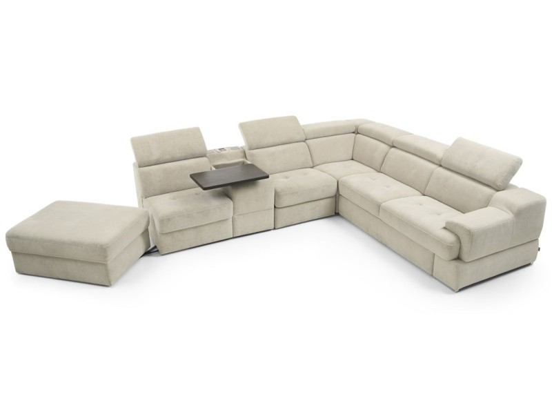 Gala Collezione Sectional Belluno - Modular sectional with a bed, storage, recliner and bar