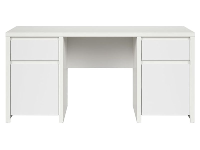 Kaspian White Desk 160 - Large office desk