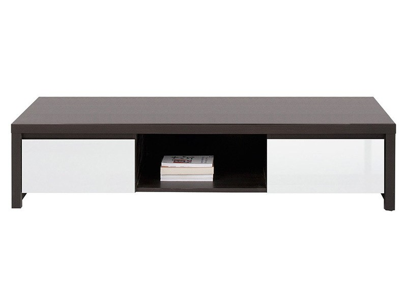 Kaspian Wenge + Glossy White Tv Stand - Contemporary furniture collection