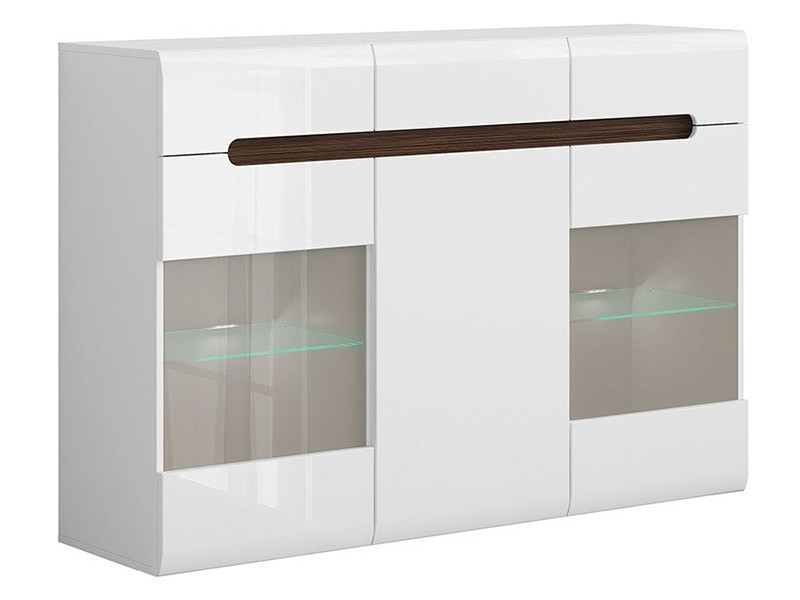 Azteca Trio Sideboard - High gloss white buffet