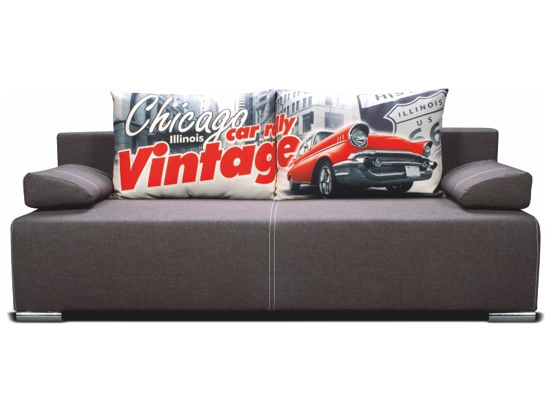 Libro Sofa Play Lux Chicago 3FBA - Sofa with bed and storage