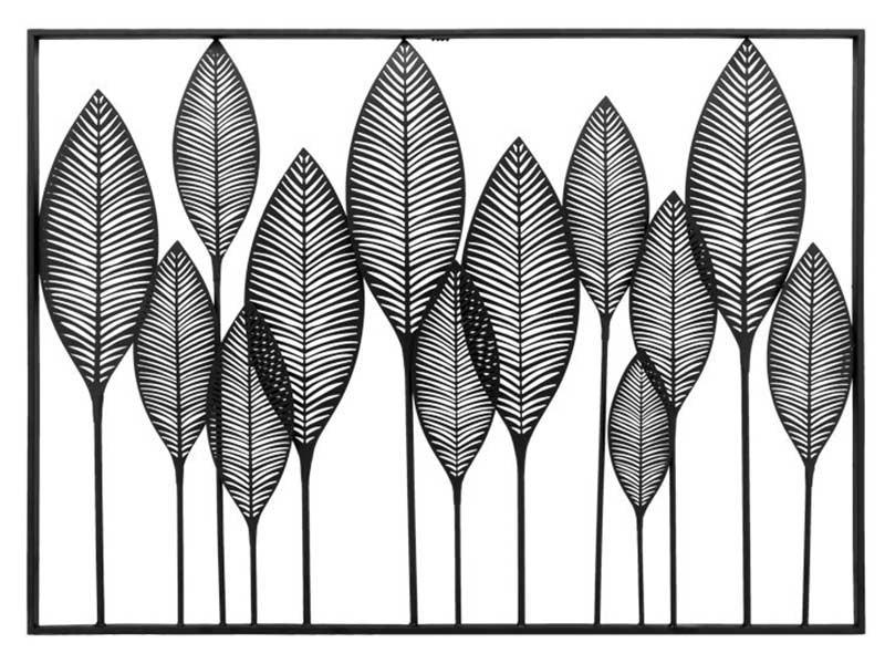 Torre & Tagus Framed Leaf Cutout Horizontal Metal Wall Decor - Modern decor